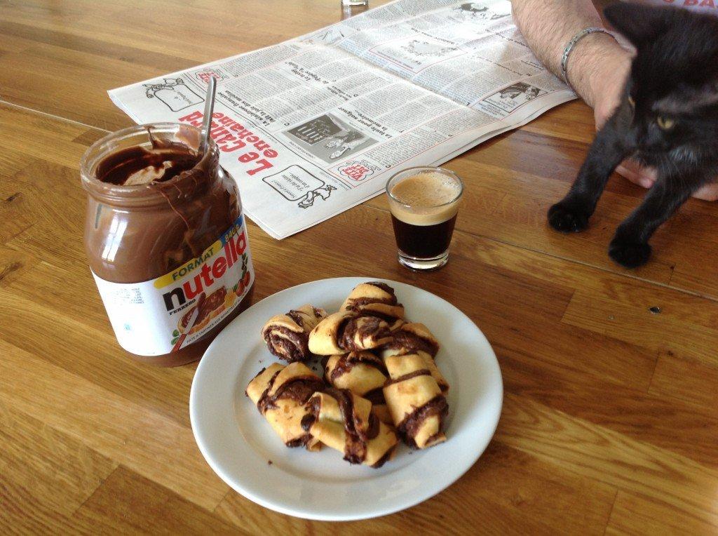mini croissants au nutella cuisinedamour. Black Bedroom Furniture Sets. Home Design Ideas