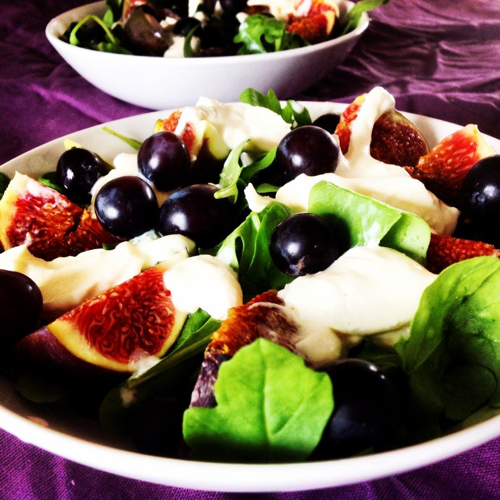 salade figue burrata