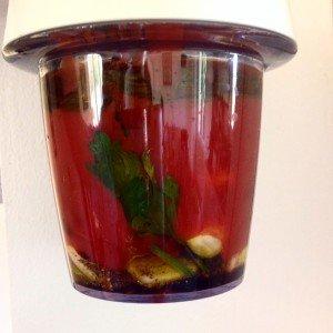 pesto ail tomates