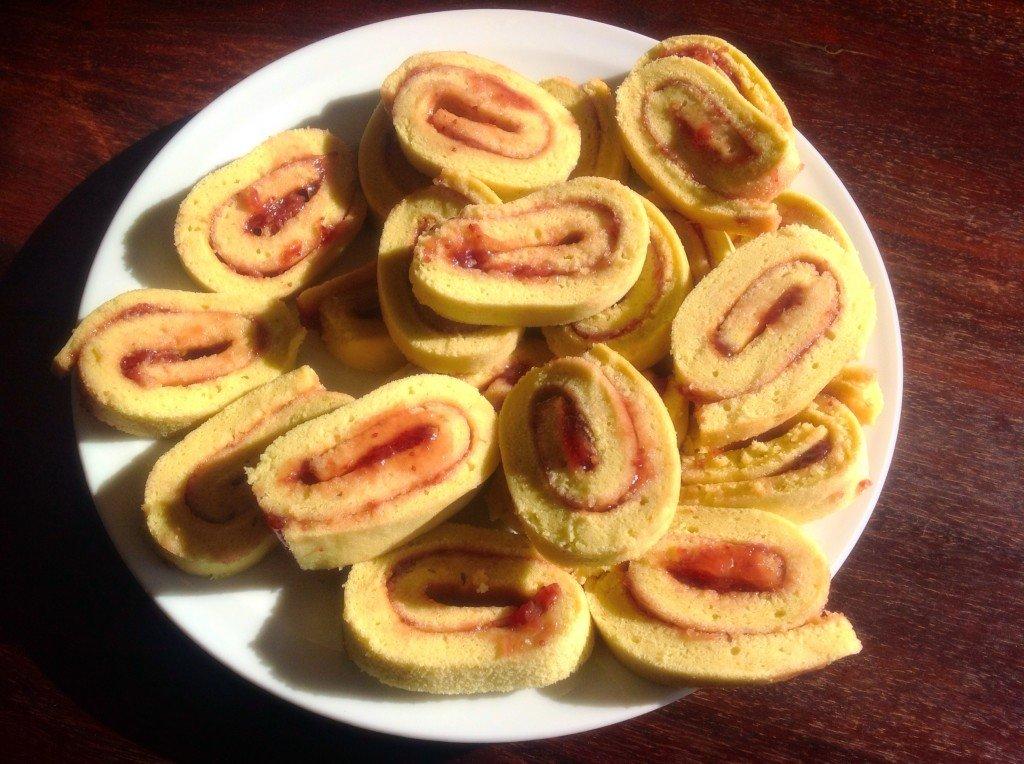 gâteau roulé conf fraises