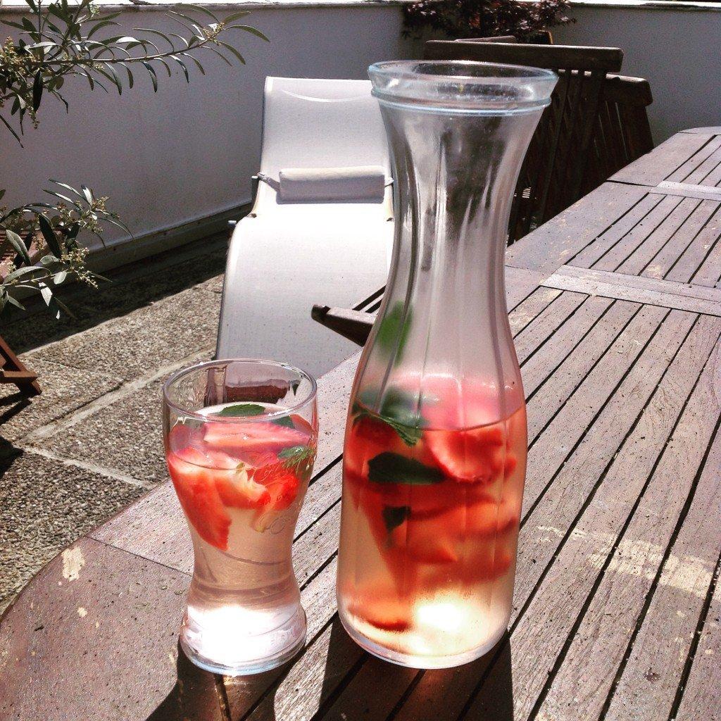 detox water fraise