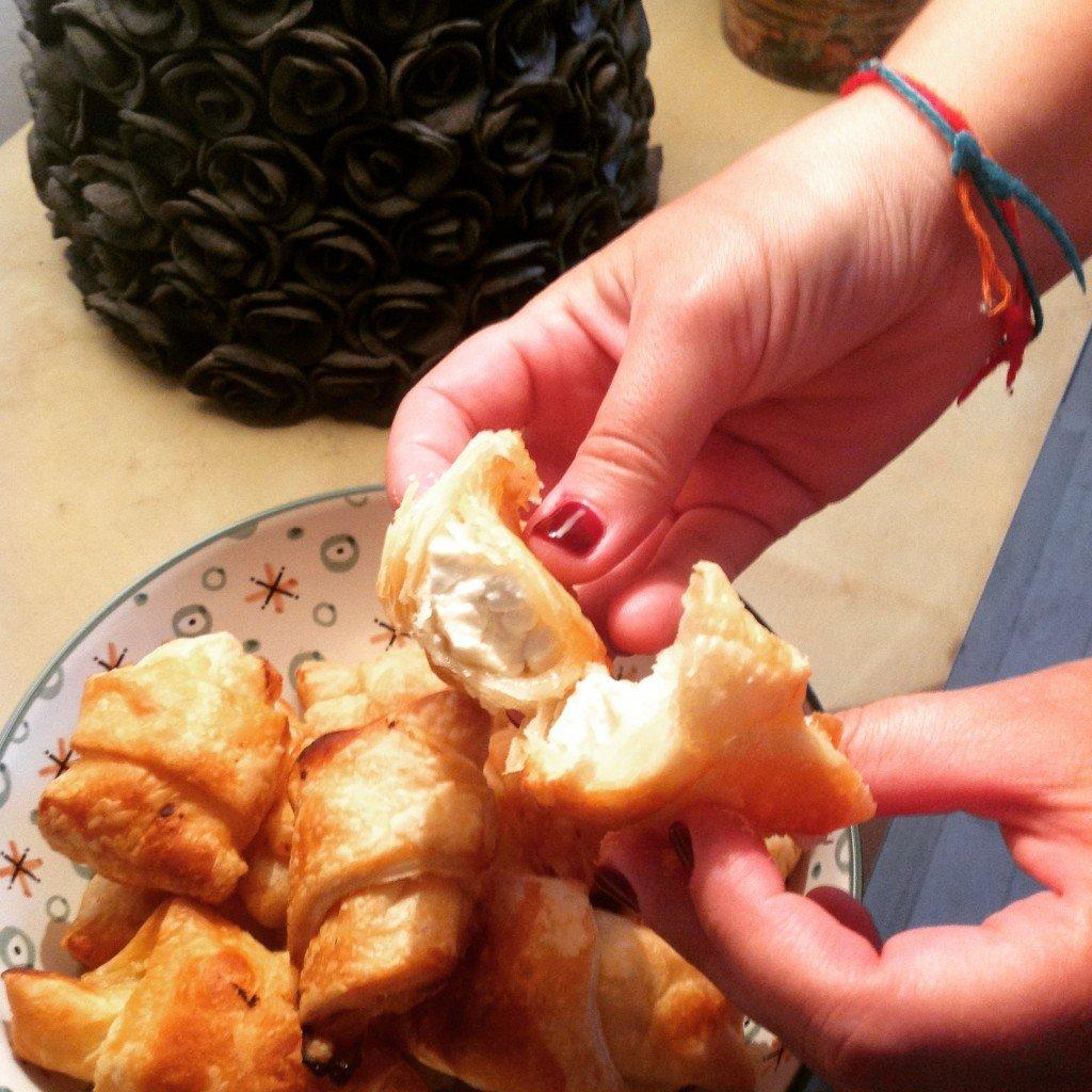 croissants miel feta